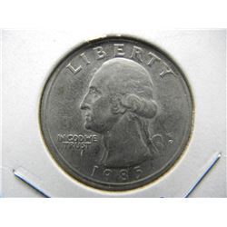 1985-P Washington BU Quarter. Semi key