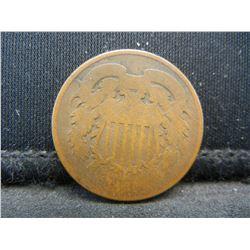 1860's CIVIL WAR COIN. 2 CENTS.