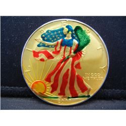 2000 Painted America Silver Eagle.