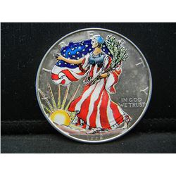 1999 Painted American Silver Eagle.