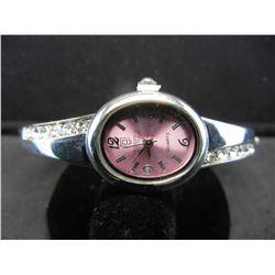 OBOS pink Quartz watch