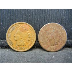 1868, 1909 Indian cents. Better dates, folks!