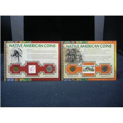 Native American Coin Sets, (4) Coins With Postage