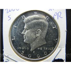 2000 S Silver Proof Half