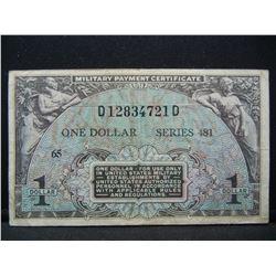 Series 481 $1 MPC. EF40 grade