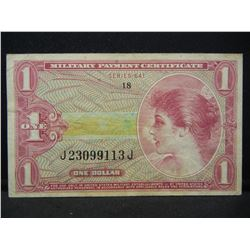 Serie 641 Vietnam era $1 MPC. VF grade