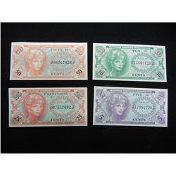 5,10,25,50 cent UNC MPC notes! VIETNAM 1964 series 641