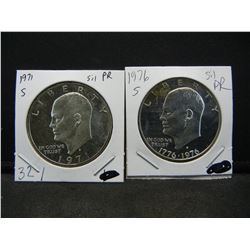 1971, 1976 40% Silver Proof Ikes