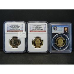 Proof and UNC slabbed Pres Dollars