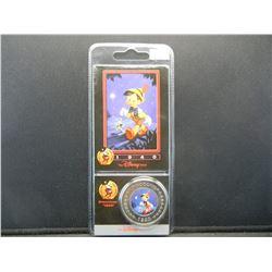 DISNEY Pinocchio coin. GENUINE DISNEY product