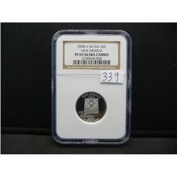 2008 S Silver NM Quarter. PR69