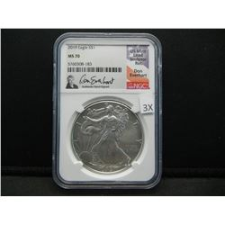 2019 Silver American Eagle.  NGC MS 70.
