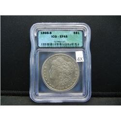 1898-S Morgan $1.  ICG - EF45.  Scarce Date.