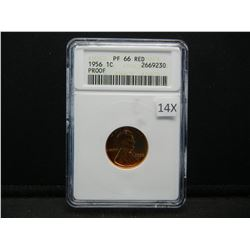 1956 Lincoln 1c.  ANACS PF 66 RED.