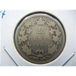 1888 Canada 25c.  Semi-Key.