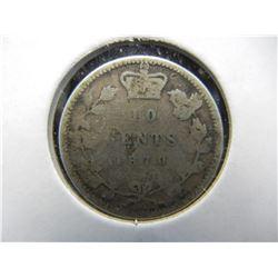 1870 Canada 10c.  Semi-Key.