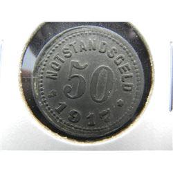 1918 Germany-Sinzig 50 Pfennig Notgeld.