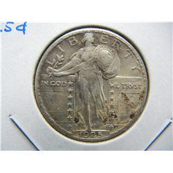 1925 Standing 25c.  AU Details.