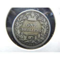1868 Great Britain Silver Shilling.