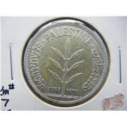 1935 Palestine 100 Mils.  VF.