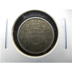 1862 India Silver 2 Annas.  Scarce.