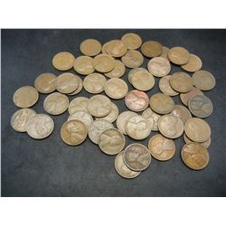 Roll of 50 1926-D Lincoln Wheat Cents.