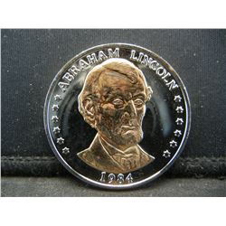 1984 Abraham Lincoln 175th Anniversary of Birth Commemorative Medal.