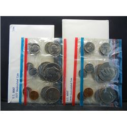 1977 & 1978 United States 12 Coin Mint Sets With Original Gov't Packaging.