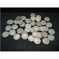 Roll of 40 1936 Full Date Buffalo Nickels.