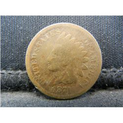 1874 Indian Head Cent.