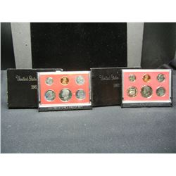 1981 & 1982 United States Mint 6-Coin Proof Sets With Original Government Packaging.