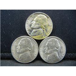 1943 DSS Uncirculated Silver War Nickels.