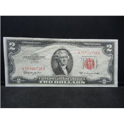 1953-C $2 Red Seal United States Note.  Serial # A75704739A.
