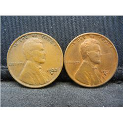 1931-D 1932-D Lincoln Wheat Cents.