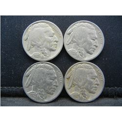 1926 1927 1928 1929 Full Date Buffalo Nickels.