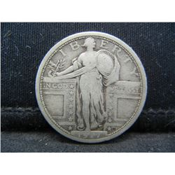 1917 Type 1 Exposed Breast Standing Liberty Quarter.