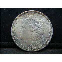 1900-O Uncirculated Morgan Silver Dollar.