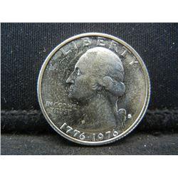1976-S Uncirculated Bicentennial 40% Silver Quarter.