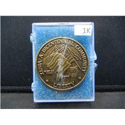1976 City of Xenia Ohio Bicentennial Medal.