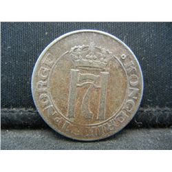 1919 Norway 5 Ore Coin.