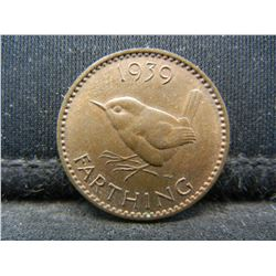 1939 Great Britain One Farthing.