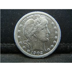 1902 Barber Quarter, VF++ Condition With Bold Readible Liberty.
