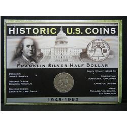 1952 Franklin Half Dollar Historic U.S. Coin Set Issued by First Commemorative Mint.