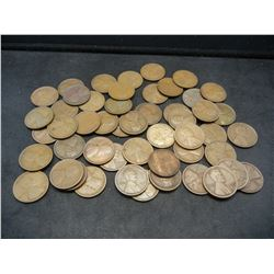 Roll of 50 1918-S Lincoln Wheat Cents.