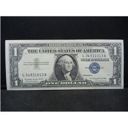 1957-A Blue Seal $1 Silver Certificate.  Nice Uncirculated Note.  Serial # L34931013A