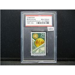 "1991 29 Cents ""Numismatics"" Stamp Graded Mint By PSE Grading Company."