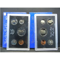 1972 & 1983 United States Mint 5 Coin Proof Sets With Original Gov't Packaging.