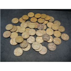Roll of 50 1921 Lincoln Wheat Cents.
