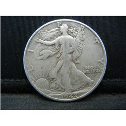 1942 SILVER (90%) LIBERTY HALF, WWII ERA, (ONLY 47.8 MILL EVER MINTED), 77 YRS OLD, INCREDIBLE COIN!
