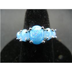 WOMAN'S BLUE FIRE OPAL RING (SIZE 7), FASHION JEWELRY, NEW/GREAT GIFT!